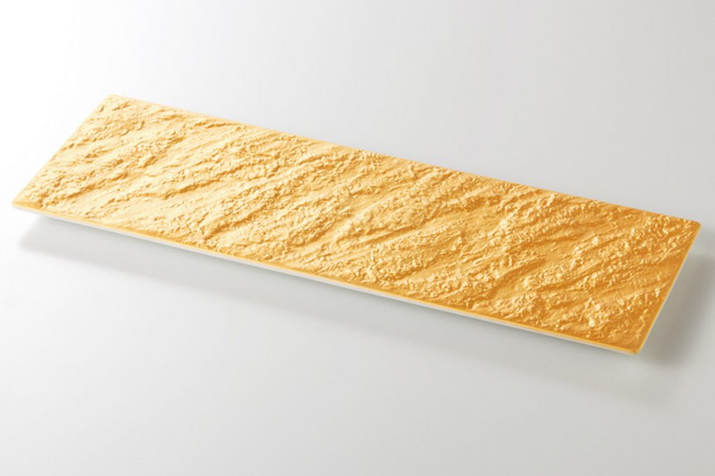 黄金石 岩目尺ニ長皿