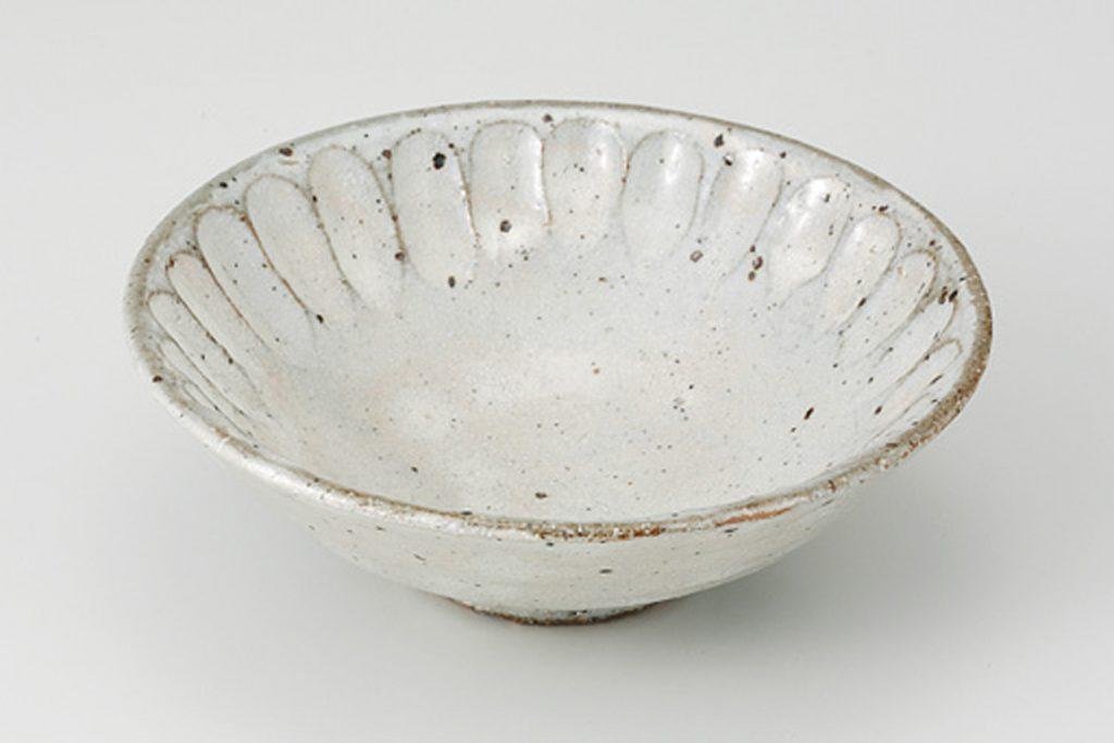 粉引花彫 小鉢