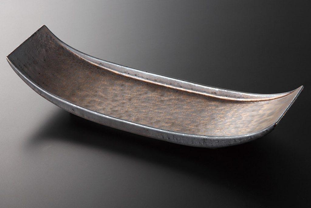 金結晶 舟型長皿