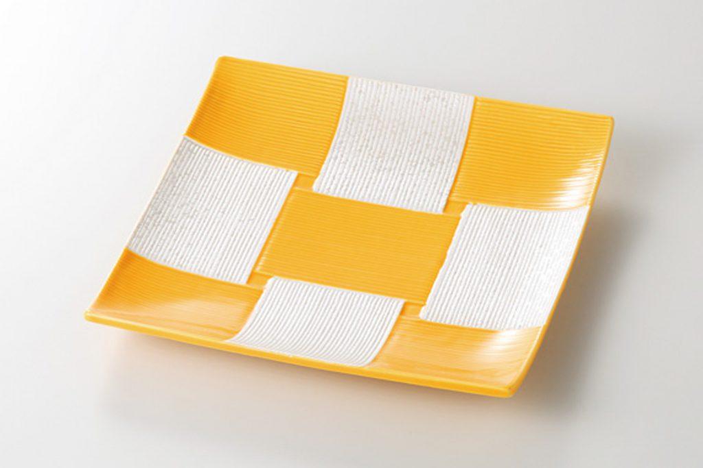 黄市松ラスター 角皿