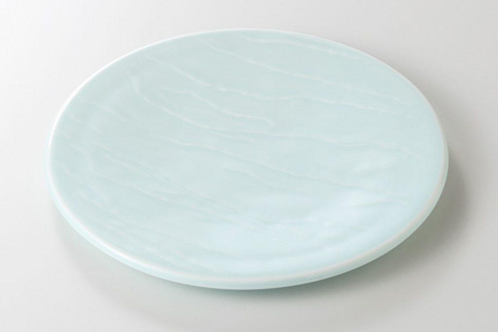 青白 石面前菜皿