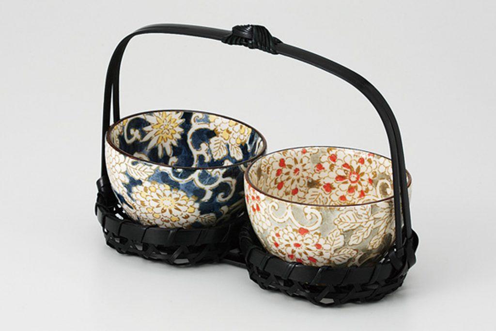 花唐草 デミカップ(ブラック)