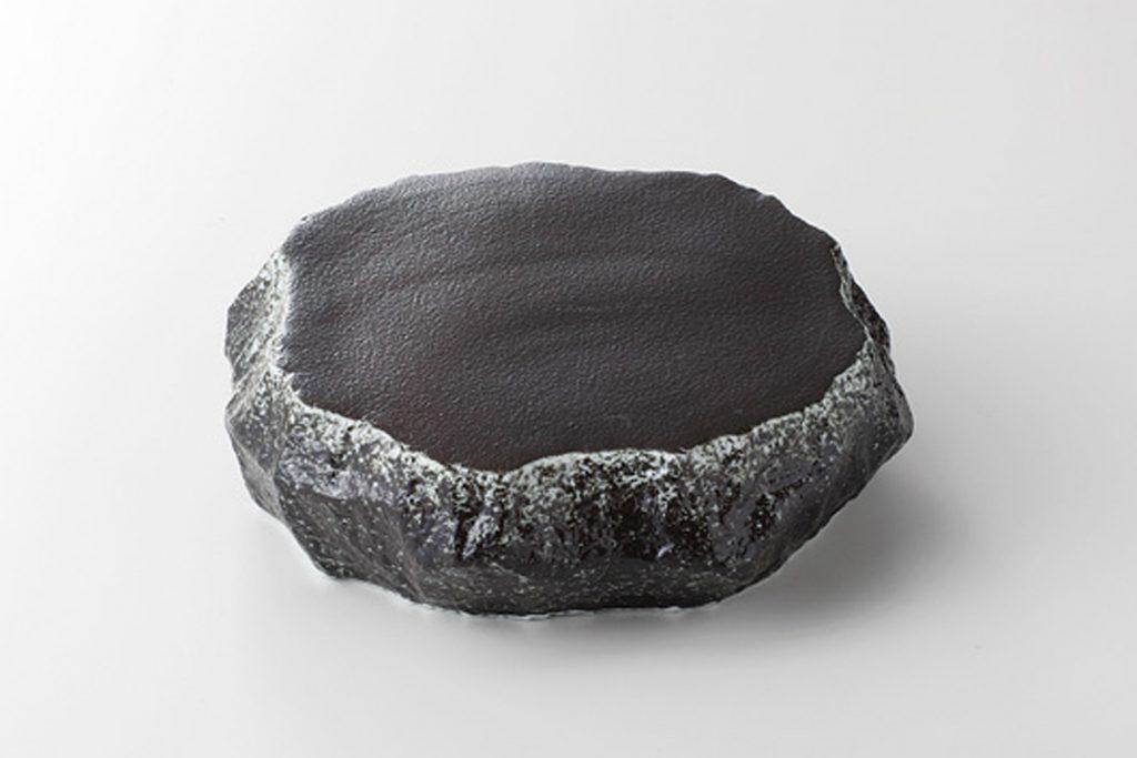 黒吹 岩高台皿(小)