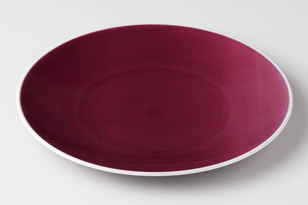 クレイズ紫 6吋デザートプレート