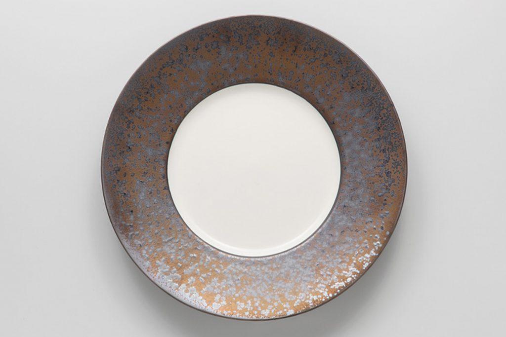 金結晶 リム丸皿(大)