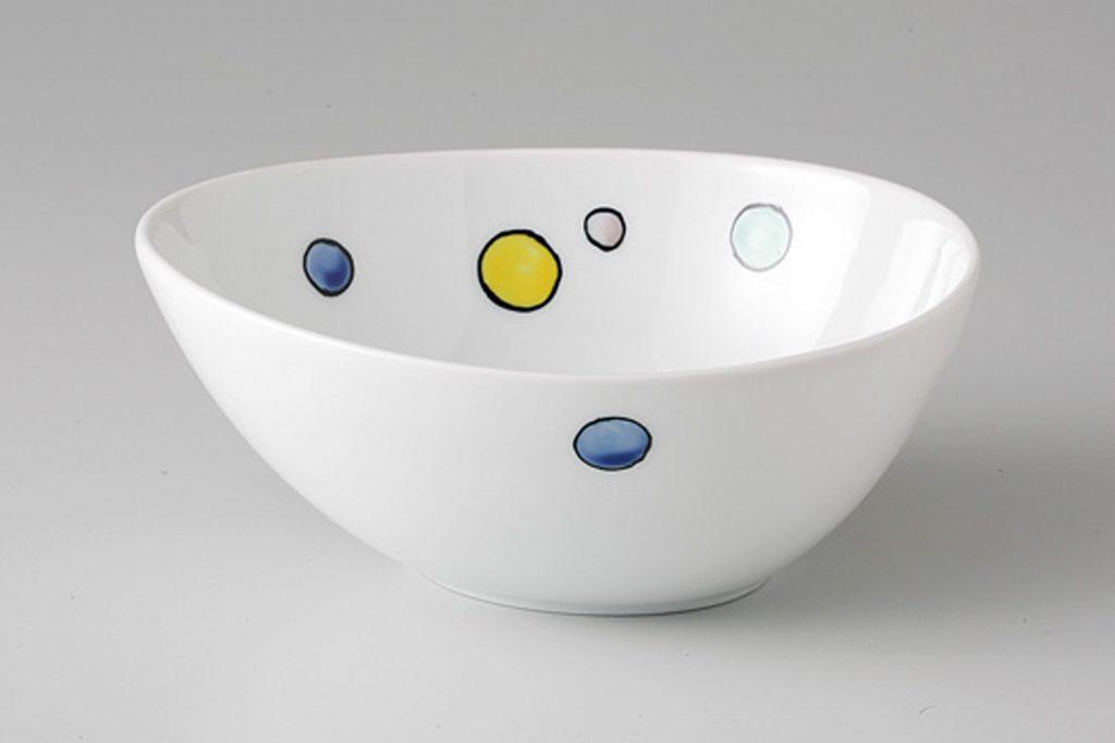 色水玉 たまご鉢
