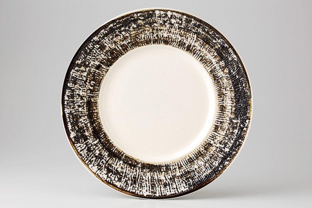 白線刻 リム丸皿(小)