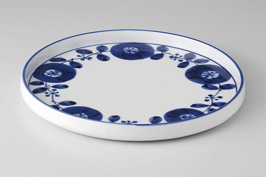 藍染花紋 プレートS