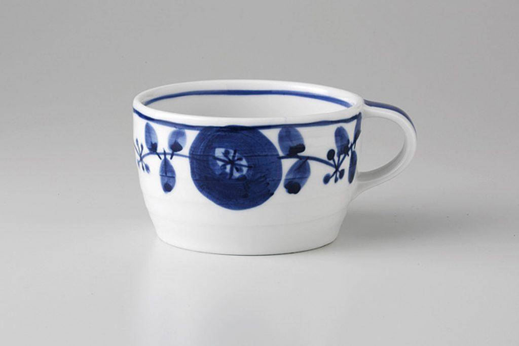 藍染花紋 スープカップ