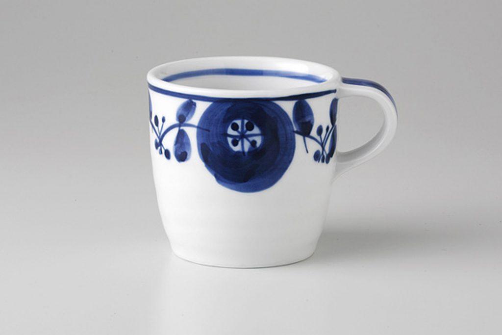 藍染花紋 マグカップ