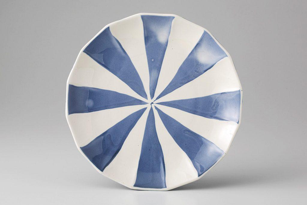 クリームサーカス 5.5皿(ブルー)