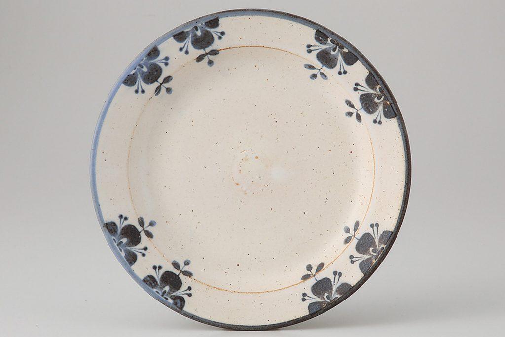 ローズマリー ケーキ皿(ブルー)