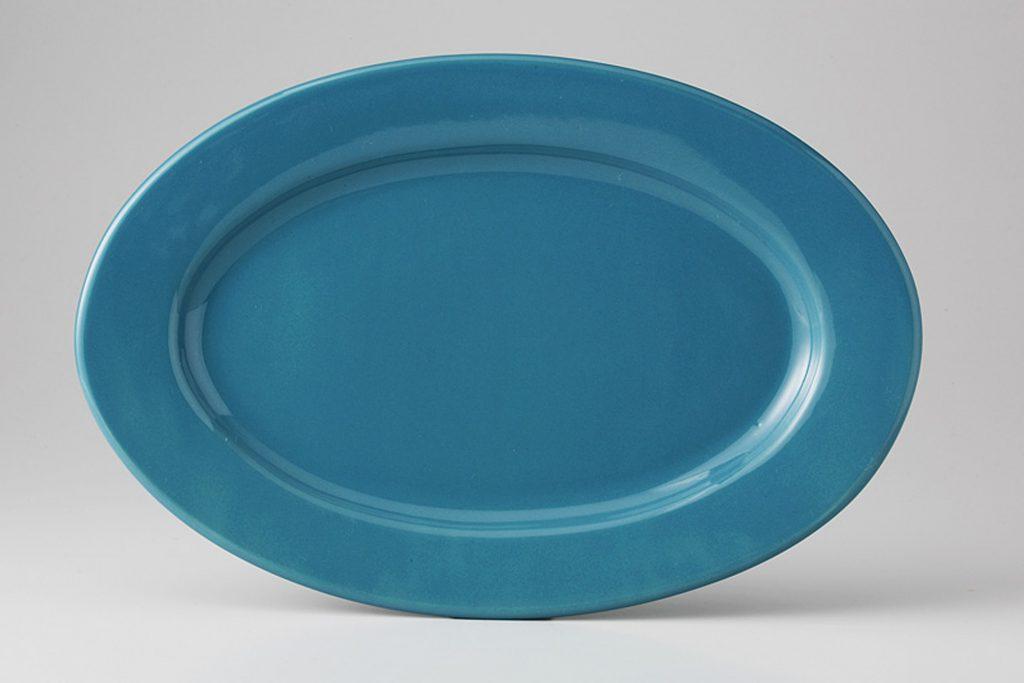 ブルーベリー 楕円リム皿