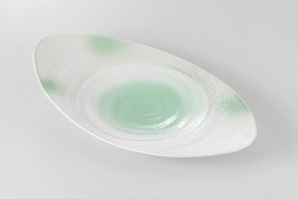 萌黄吹 楕円皿