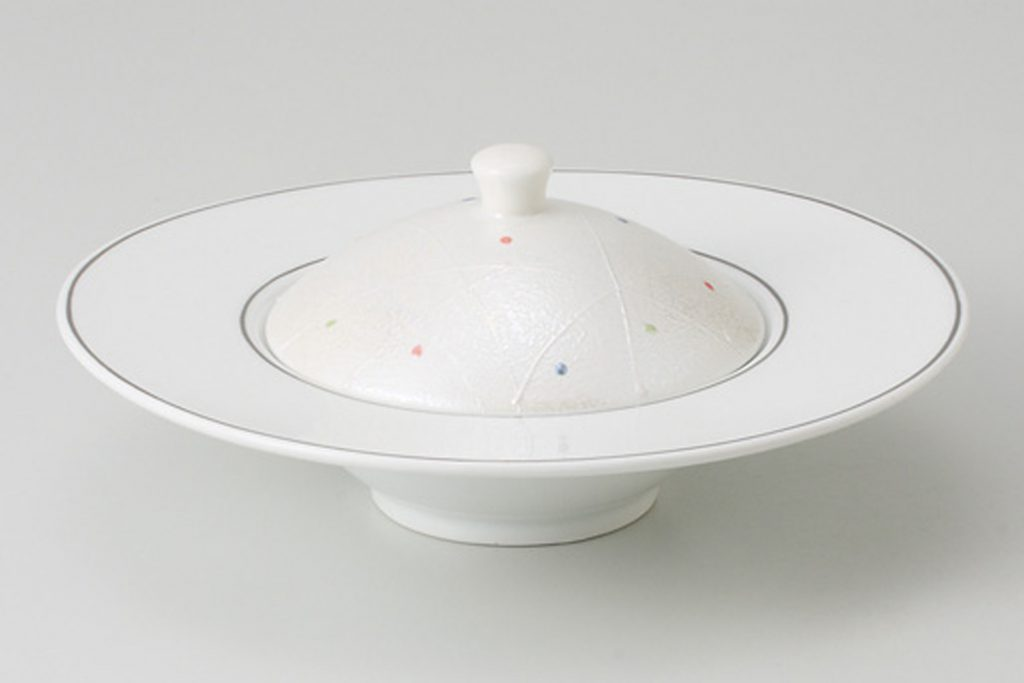 色水玉 蓋付小鉢