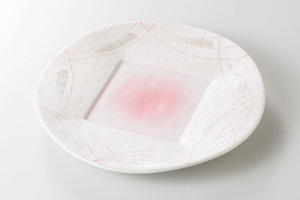 ラスターピンク線 前菜皿