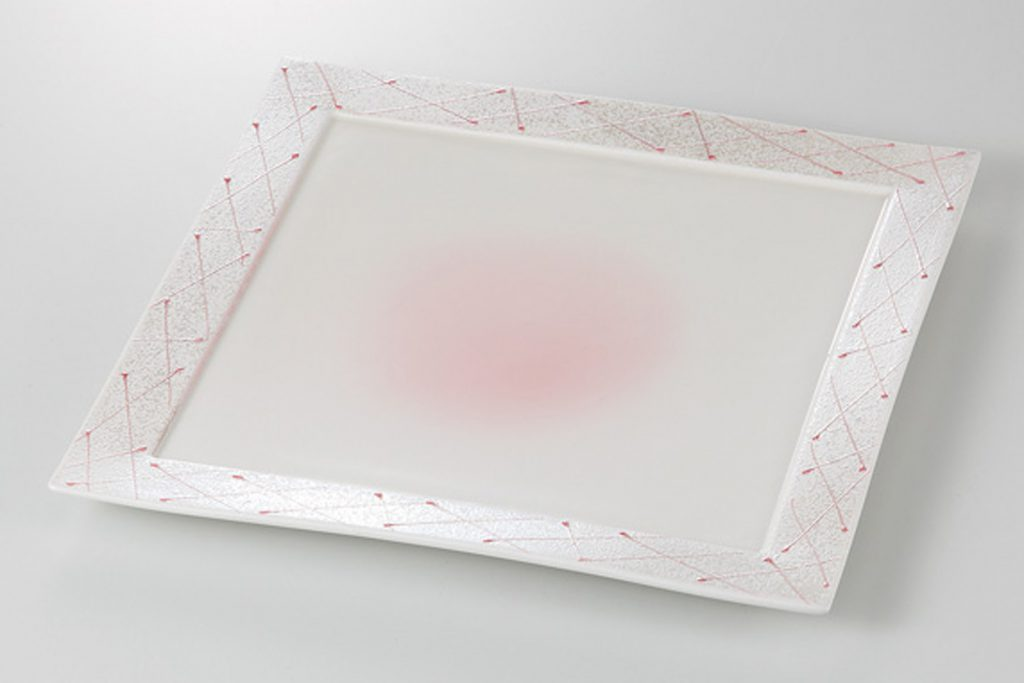 ピンク一珍 正角6.0皿