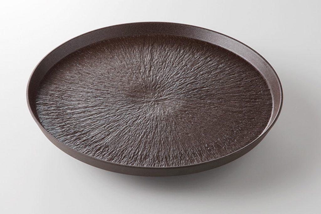 炭化トチリ 切立7.0皿
