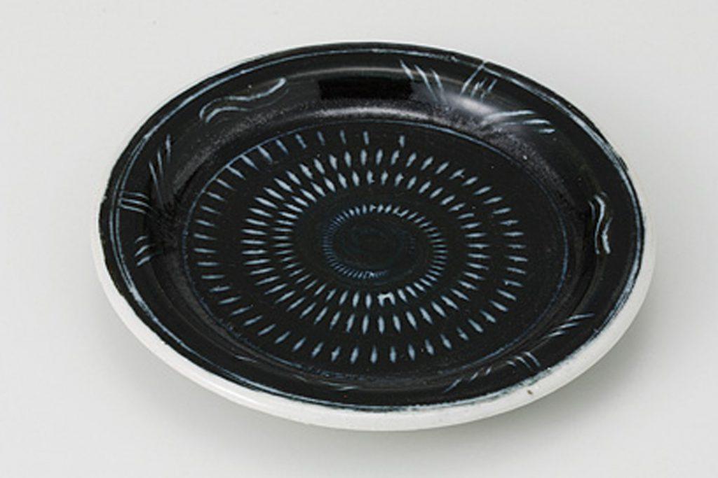 黒トチリ ツバ3寸皿