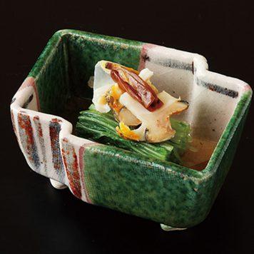 織部唐草 変型小鉢