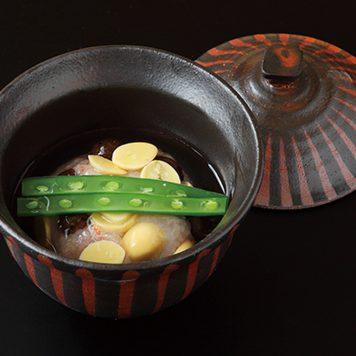 燻し黒朱十草 煮物碗