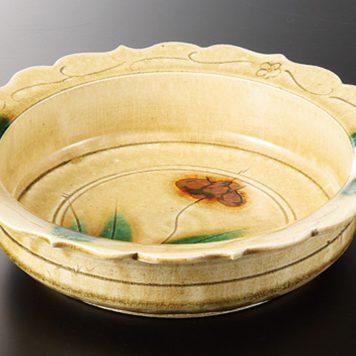 輪花黄瀬戸 8.0鉢